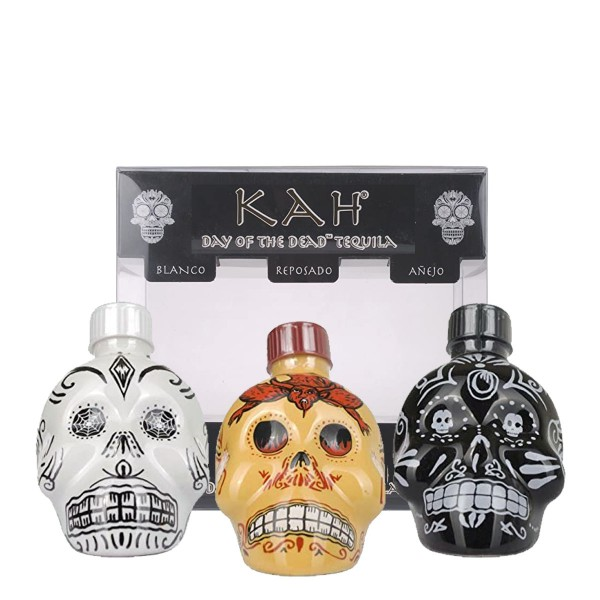 Kah Tequila Blanco, Reposado, Añejo | Collectors Set 40/55% (3x 0.05 l)