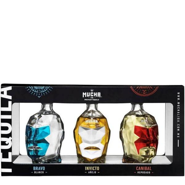 Mucha Liga Tequila Blanco, Reposado, Añejo | Collectors Set 35% (3x 0,1 l)