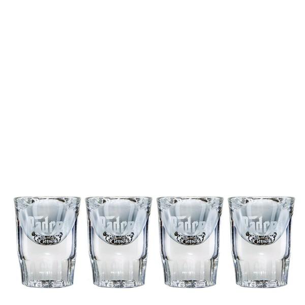 Padre Azul Tequila Shot Glas | Set mit 4 Gläsern (2cl)