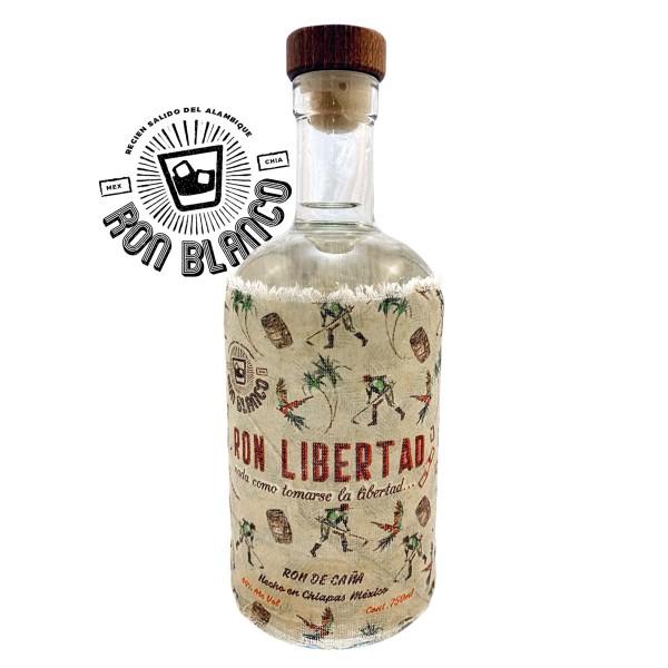 Ron Libertad White Rum | Handmade & Organic 44% (1 x 0,7 l)