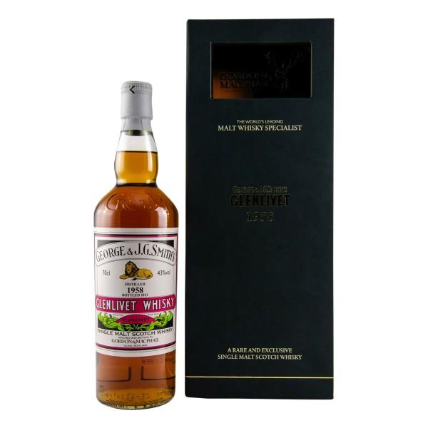 Glenlivet Whisky 55 Jahre 1958 Cask No.1689+1690 G&M 43% (1 x 0,7 l)