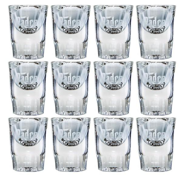 Padre Azul Tequila Shot Glas   Big Set mit 12 Gläsern (2cl)