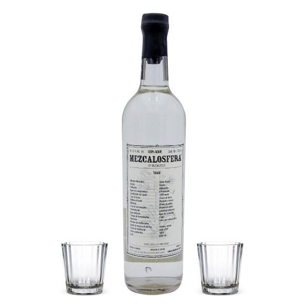 Mezcalosfera Tobala Mezcal 49,16%   Set mit 2 Gläsern (1 x 0.7 l)