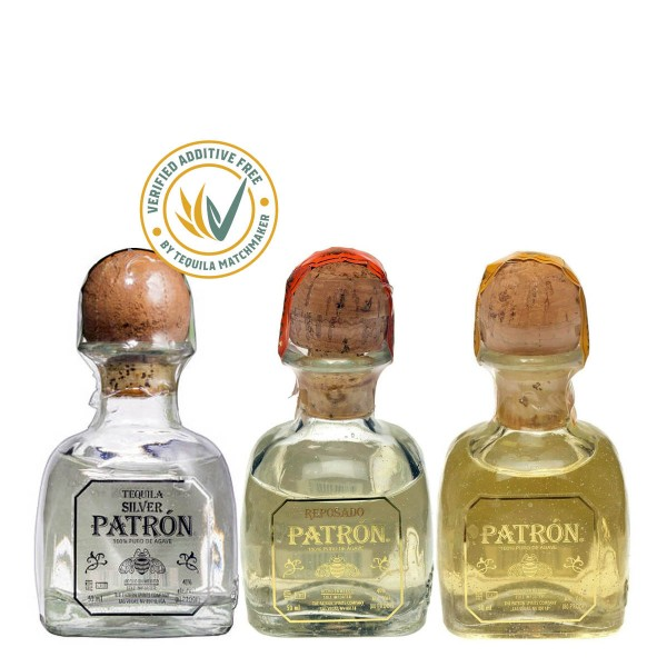 Patrón Tequila Blanco, Reposado, Añejo | Tasting Set 38% (3x 0.05 l)