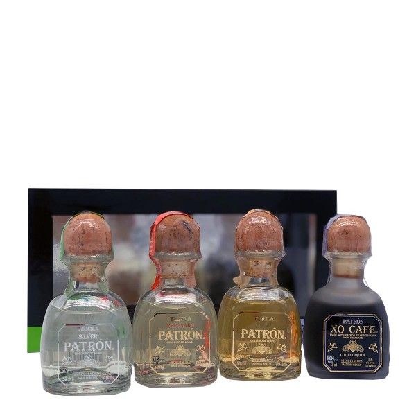 Patrón Tequila Blanco, Reposado, Añejo & Likör | Tasting Set 35/38% (4x 0.05 l)