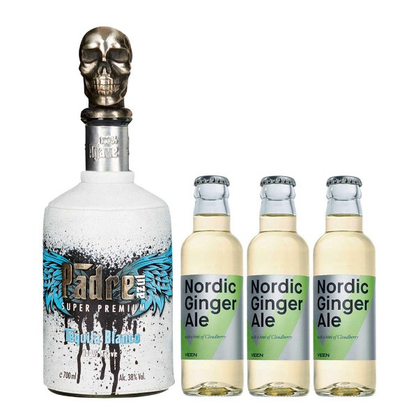 Padre Azul Blanco Tequila 38% (1x 0.7 l) + 3x VEEN Ginger Ale (3 x 0.2 l)