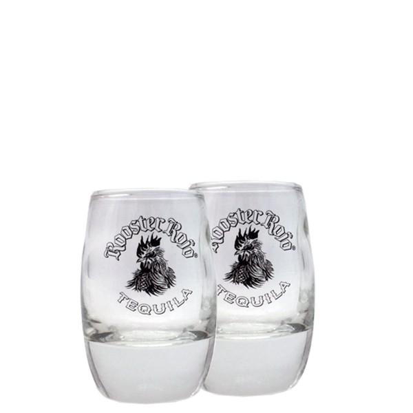 Rooster Rojo Tequila Shot Glas | Set mit 2 Gläsern (6cl)