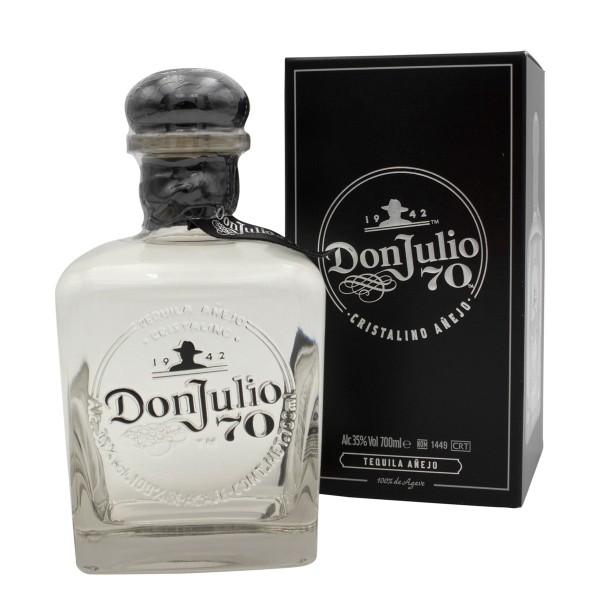 Don Julio Crystal Claro 70th Anniversary Tequila Añejo 35% (1 x 0.7 l)