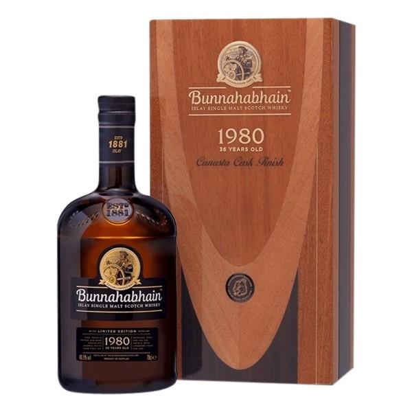 Bunnahabhain Whisky 1980 | 36 Jahre Canasta Cask Finish 49,5% (1 x 0,7 l)