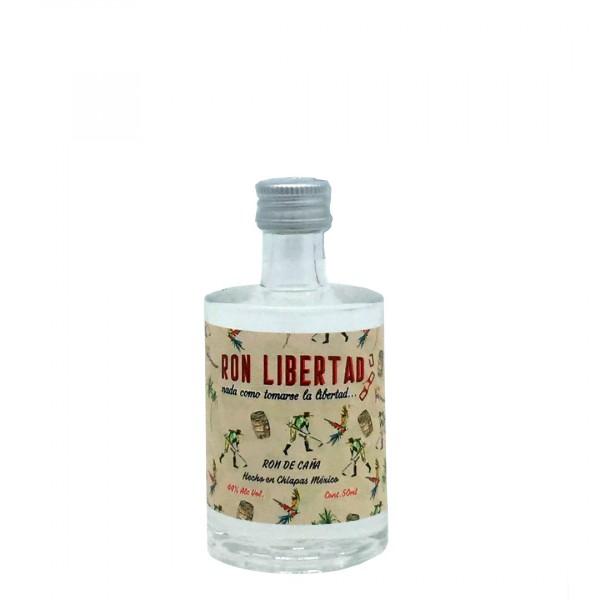 Ron Libertad White Rum   Handmade & Organic 44% (1 x 0,05 l)