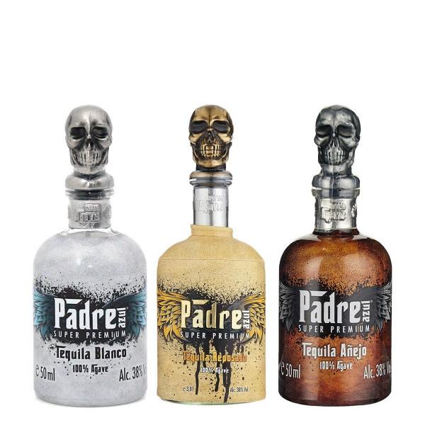 Padre Azul Tequila Blanco, Reposado, Añejo | Tasting Set 38% (3x 0.05 l)