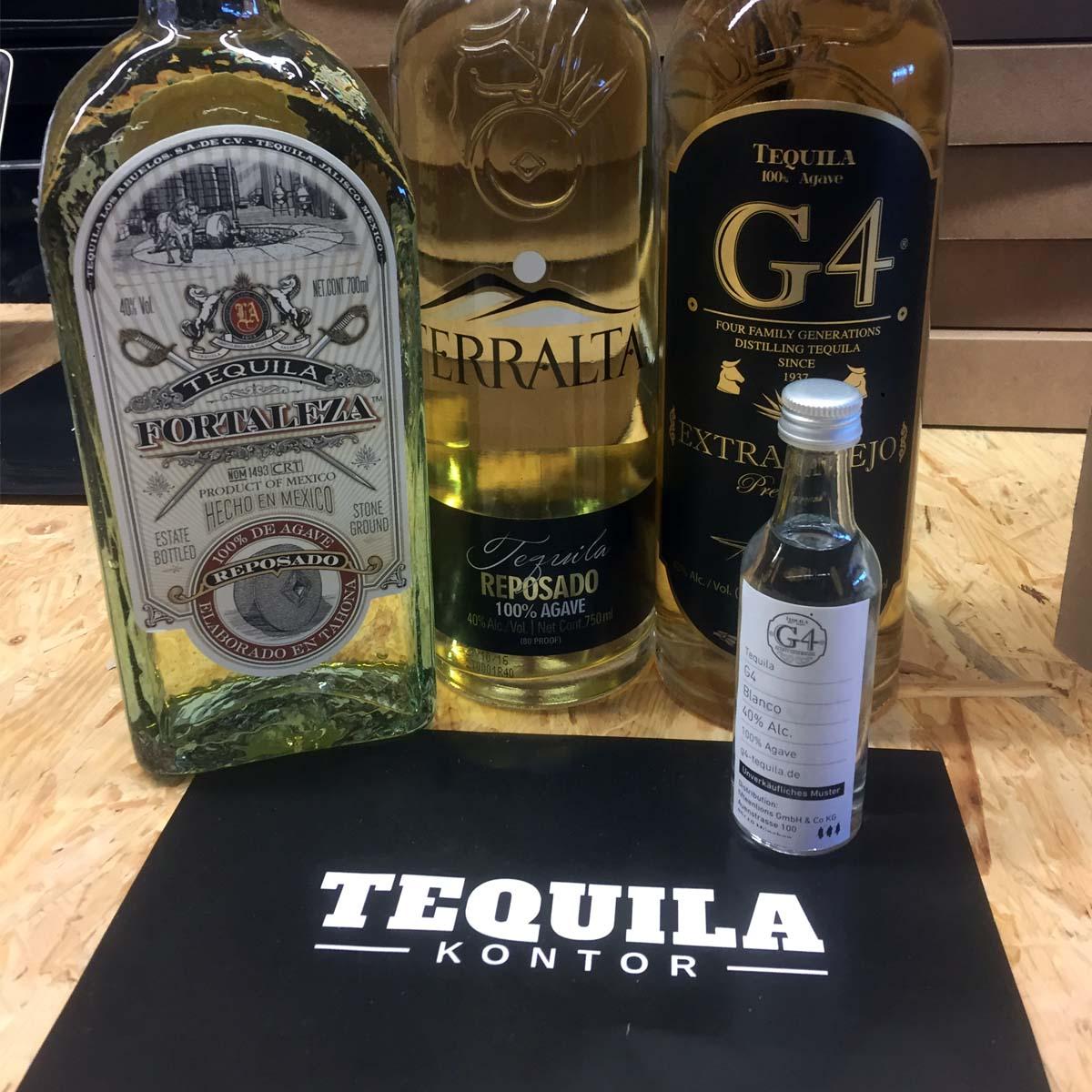 Typischer Warenkorb - Bestellung bei Tequila Kontor