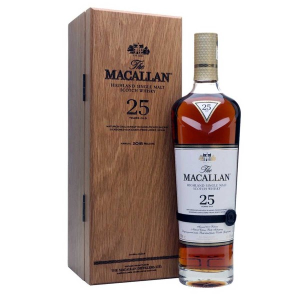 Macallan 25 Jahre Sherry Oak 2018 Whisky 43% (1 x 0,7 l)